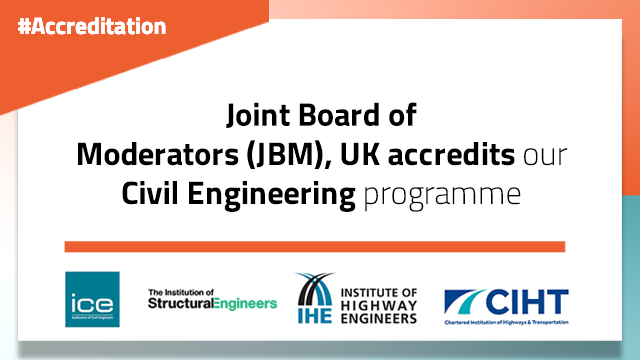 Joint Board of Moderators accredits MEC's Civil Engineering programme